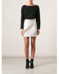 Tory Burch - Black Bobble Knit Sweater - Lyst