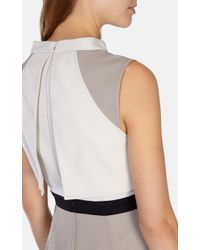 Karen Millen | Gray Stretch Ottoman Shirt Dress | Lyst
