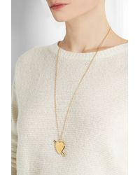 Jennifer Fisher | Metallic Large Heart Gold-Plated Necklace | Lyst