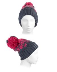 Spyder - Pink Pom-pom Knit Hat - Lyst