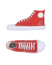 Stone Island - Red High-tops & Sneakers for Men - Lyst
