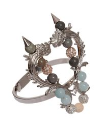 Fenton - Multicolor Silver and Crystal Delano Overlay Thin Cuff - Lyst