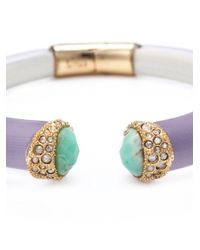 Alexis Bittar | Purple Pavé Tip Hinged Bangle | Lyst