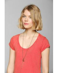 Urban Outfitters - Metallic Celestial Charm Double-Layer Necklace - Lyst