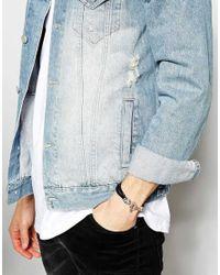 Icon Brand - Metallic Skull Bracelet for Men - Lyst