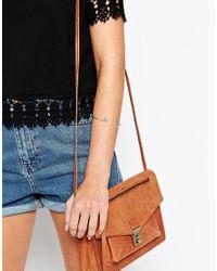 ASOS - Pink Open Leaf Cuff Bracelet - Lyst