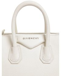 Givenchy | White Mini Antigona Grained Leather Top Handle | Lyst
