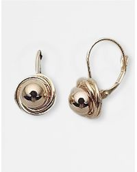 Lord & Taylor | 14k Yellow Gold Polished Ball With Lever Back Earrings | Lyst