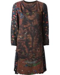 Wunderkind - Brown 'Cat' Printed Dress - Lyst