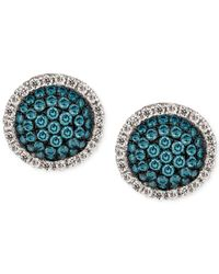 Le Vian | Metallic Blue And White Diamond Stud Earrings (7/8 Ct. T.w.) In 14k White Gold | Lyst