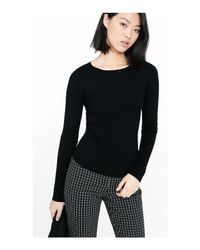 Express - Black Crew Neck Wide Ribbed Sweater - Lyst