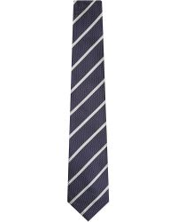 Canali | Blue Multi Pattern Silk Tie for Men | Lyst