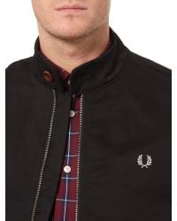 Fred Perry | Black Scooter Full Zip Jacket for Men | Lyst