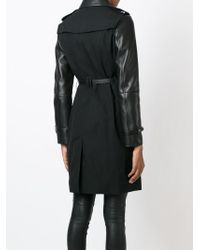 Burberry - Black Panel Sleeve Trench Coat - Lyst