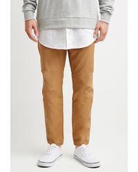 Forever 21 | Natural Drawstring Canvas Pants for Men | Lyst