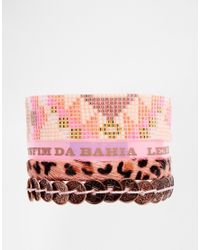 Hipanema | Pink Butterfly Friendship Bracelet | Lyst