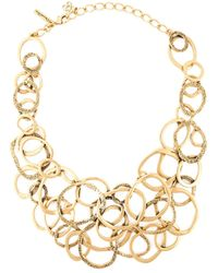 Oscar de la Renta | Metallic Multi Hoops Necklace | Lyst