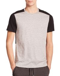 Vince - Gray Colorblock Tee for Men - Lyst
