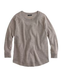 J.Crew - Gray Merino Swing Sweater - Lyst