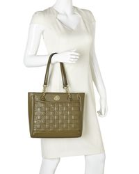 Anne Klein - Green Olive All In Stitches Tote - Lyst