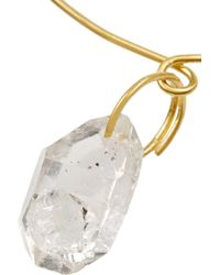 Pippa Small - Metallic 18-Karat Gold Rock Crystal Bracelet - Lyst