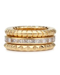 Lara Bohinc | Metallic 18 Karat Gold Plated Stacking Rings | Lyst