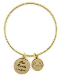 "BCBGeneration | Metallic Gold-Tone ""Best Friends Forever"" Infinity Bangle Bracelet 