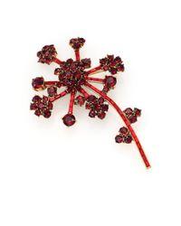 Oscar de la Renta | Metallic Crystal Flower Brooch | Lyst