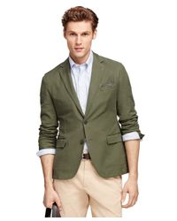Brooks Brothers | Green Cotton Sport Coat | Lyst