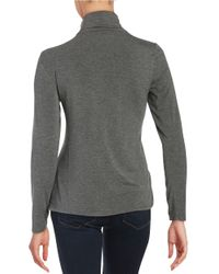 Calvin Klein   Gray Turtleneck Knit Top   Lyst
