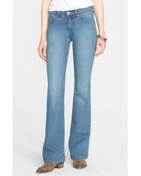 Free People - Blue 'Gummy' Mid Rise Flare Jeans - Lyst