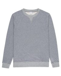 Sunspel   Gray Men's Loopback Cotton Sweatshirt With Printed Stripe for Men   Lyst
