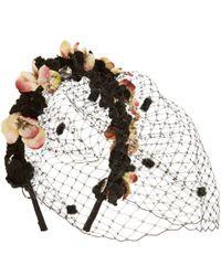 Eugenia Kim | Black Lucia Floral Veil Headband | Lyst