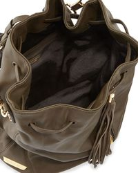 Elizabeth and James | Cynnie Leather Satchel Bag Green | Lyst