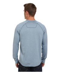 The North Face - Blue Long Sleeve Seward Henley Shirt for Men - Lyst