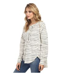 Free People - Natural Hideaway Henley - Lyst
