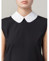 N°21 - White Embroidered Collar Necklace - Lyst