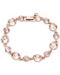 Givenchy | Rose Gold-Tone Pink Crystal Flex Bracelet | Lyst