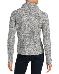 Lord & Taylor - Gray Knit Cowlneck Sweater - Lyst
