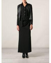 Ann Demeulemeester Blanche - Black Long Blouse Dress - Lyst