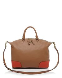 Tory Burch - Brown Satchel - Frances Colorblock Slouchy - Lyst