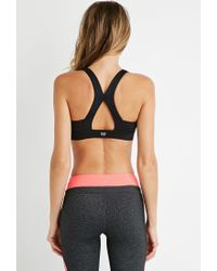 Forever 21 | Black Medium Impact - Crossback Sports Bra | Lyst