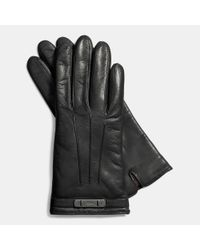 COACH | Black Swagger Glove | Lyst