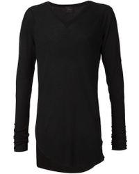 Lost & Found - Black Asymmetric Hem V-neck Sweater for Men - Lyst