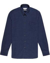 Reiss - Blue Demetri Dark Denim Shirt for Men - Lyst
