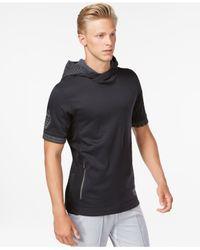 Adidas | Black Men's Hero Ball Short-sleeve Pullover Hoodie for Men | Lyst