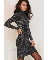 Oh My Love | Metallic All Shook Up Mini Dress | Lyst