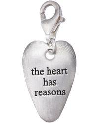 Bjorg | Metallic The Heart Has Its Reasons Pendant | Lyst
