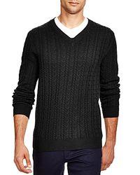 Bloomingdale's - Green Cashmere V-neck Sweater for Men - Lyst