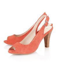 Lotus | Orange Faith Peep Toe Shoes | Lyst